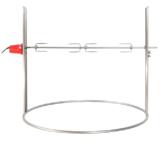Elektrischer Drehspieß für Feuerschale Edelstahl Ø 60 cm